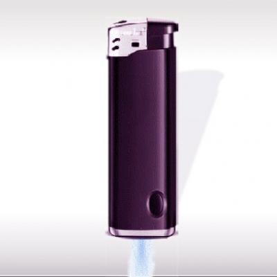 Запалка с фенерче 71321 черна с  лъскъв лилав   ефект