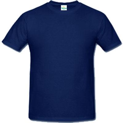Мъжка обикновена тениска  - ТЪМНО СИНЯ
