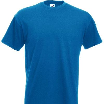 Мъжка обикновена тениска  - КРАЛСКО СИНЯ