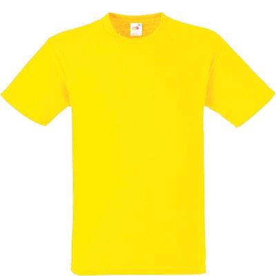 Мъжка обикновена тениска - ЖЪЛТА