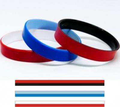 Двуцветни силиконови гривни