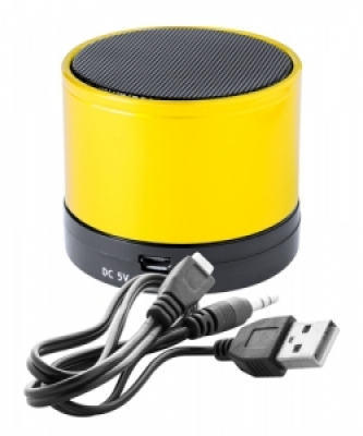 """Martins"" bluetooth speaker-yellow"