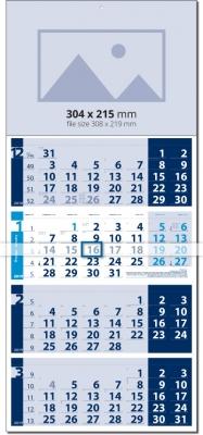 Calendar 4 monhts Четири тела Лайт СИН / СВЕТЛО СИН Werbekalender 4-monat