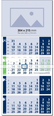 Calendar 4 monhts 2019 Четири тела Лайт СИН / ЗЕЛЕН  Werbekalender 4-monat