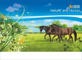 Стенен многолистов календар Природа и коне
