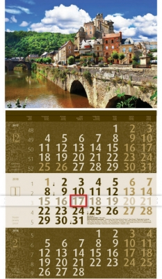 2018 Календар Лукс   Кафяво