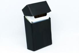 Рекламна кутия за цигари (калъф) от силикон - черен