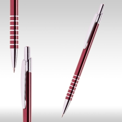 Метални химикалки бордо 26062