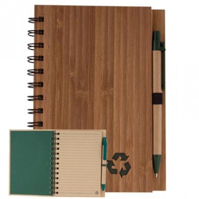 Еко бележник бамбукови корици