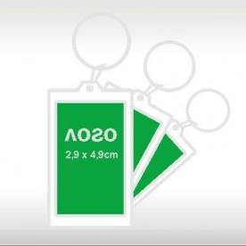 Правоъгълен пластмасов ключодържател модел 10040А
