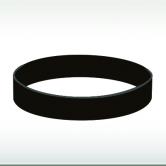 черна силиконова гривна