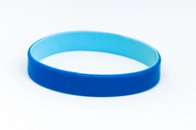 Силиконова гривна Синя/светло синя, код319556