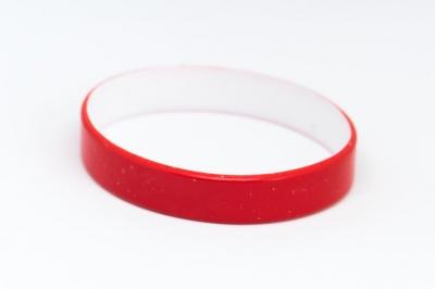 Силиконова гривна червена/бяла, код319620