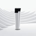 Бяла 3D Матова запалка с тристранен печат