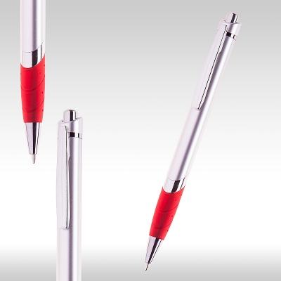 Химикалка Сребърно/червено 72563