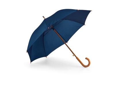 Чадър 0152 син, дървена дръжка