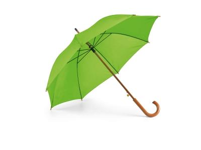 Зелен чадър с дървена дръжка  8183_CH-0152-LG