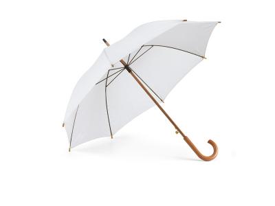 Бял чадър с дървена дръжка CH-0152-W