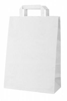 Бутикова хартиена чанта-бяла