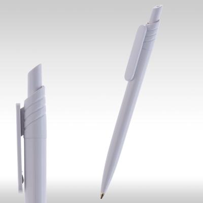 рекламни химикали 90080, бяла пластмасова рекламна химикалка