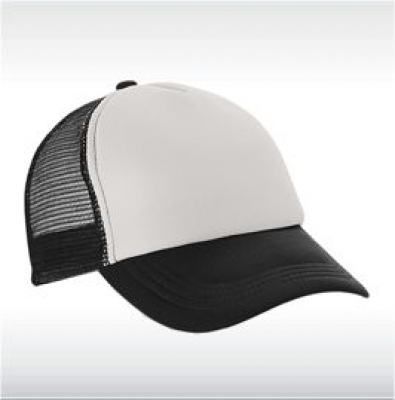 Черна бейзболна шапка с мрежа