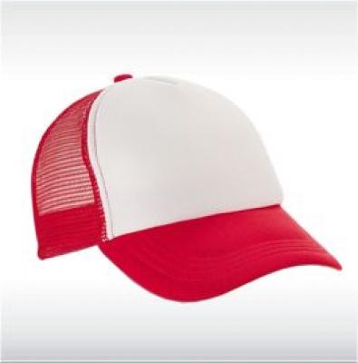 Червена бейзболна шапка  с мрежа