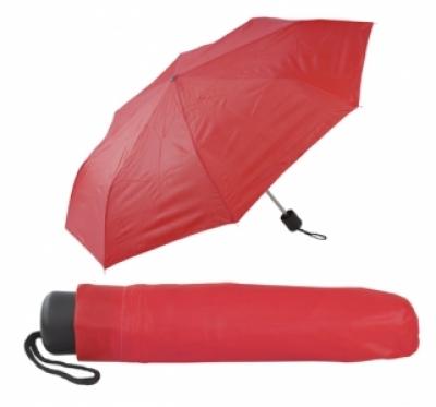 Сгъваем ръчен чадър с калъф - АР731636-05, червен