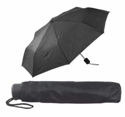 Сгъваем ръчен чадър с калъф - АР731636-10, черен