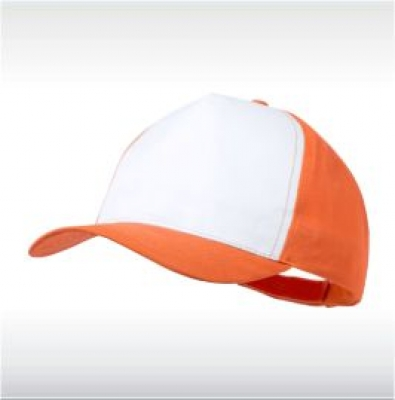 Оранж/бяло бейзболна шапка