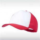 Червена/бяло бейзболна шапка