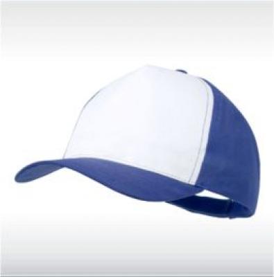 Синя/бяло бейзболна шапка