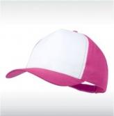 Розова/бяло бейзболна шапка