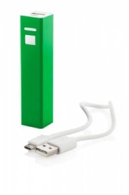 """Thazer"" USB power bank green"