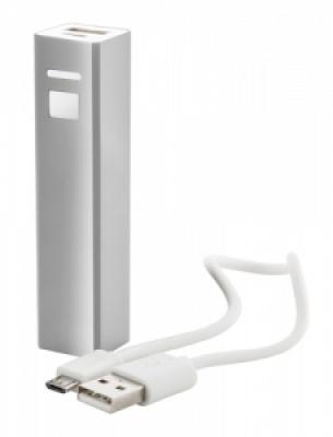 """Thazer"" USB power bank silver"