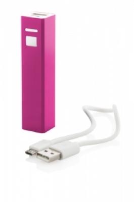 """Thazer"" USB power bank violet"