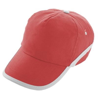 Шапка  - червена / бял кант