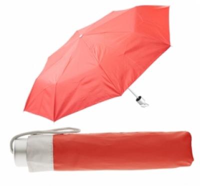 име:  Сгъваем ръчен чадър с калъф - АР761350-05, червен
