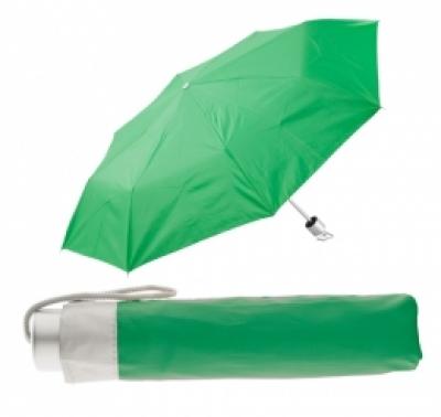 име:  Сгъваем ръчен чадър с калъф - АР761350-07, зелен