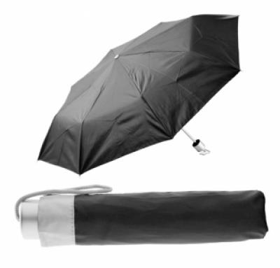 име:  Сгъваем ръчен чадър с калъф - АР761350-10, черен