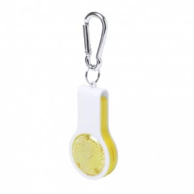 Сгъваем ключодържател-свирка с фенерче, AP781345-02, жълт