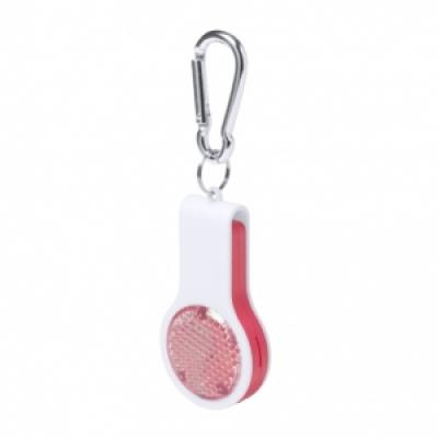 Сгъваем ключодържател-свирка с фенерче, AP781345-05, червен