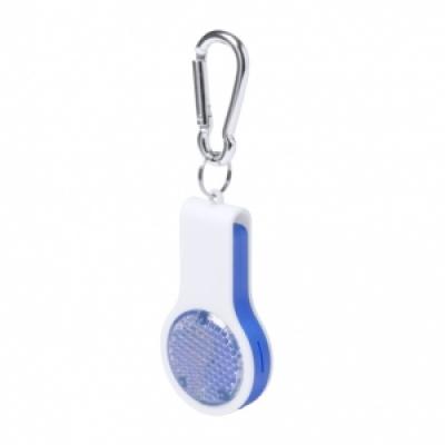 Сгъваем ключодържател-свирка с фенерче, AP781345-06, син