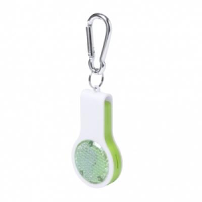 Сгъваем ключодържател-свирка с фенерче, AP781345-07, зелен