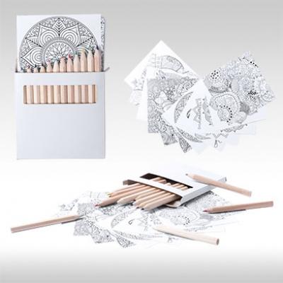 Комплект цветни моливи с картинки AP781757