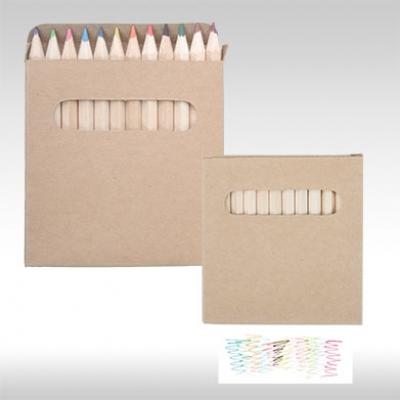 Комплект 12 бр. цветни моливи