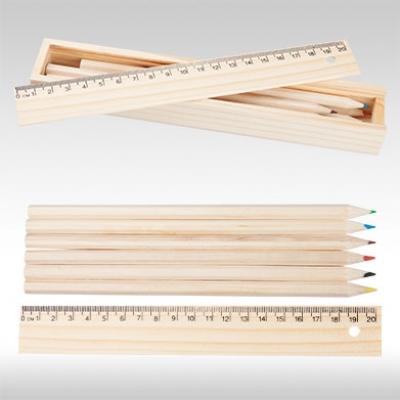 Комплект цветни моливи с линия AP808510
