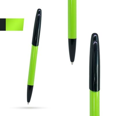 Метална химикалка KIWI, AP809445-07,зелено/черно
