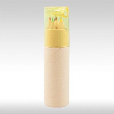 Жълт комплект цветни моливи с острилка AP812600-02