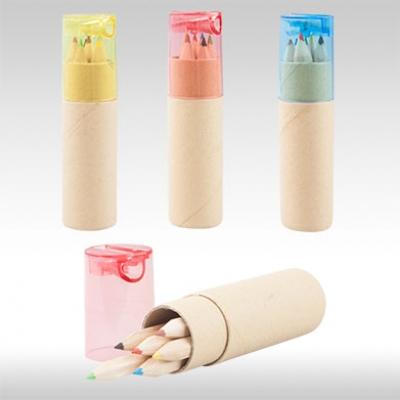 Комплект цветни моливи с острилка AP812600