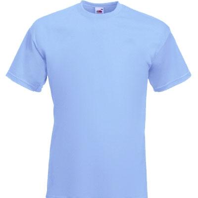 Мъжка обикновена тениска  - СВЕТЛО СИНЯ
